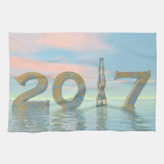 Zen happy new year 2017 - 3D render Hand Towels