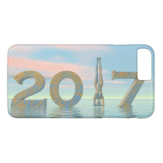 Zen happy new year 2017 - 3D render iPhone 8 Plus/7 Plus Case
