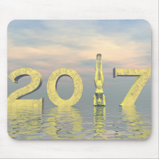 Zen happy new year 2017 - 3D render Mouse Pad