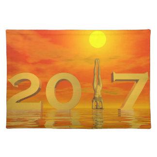 Zen happy new year 2017 - 3D render Placemat