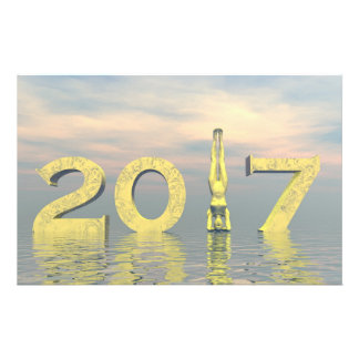 Zen happy new year 2017 - 3D render Stationery