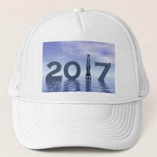 Zen happy new year 2017 - 3D render Trucker Hat
