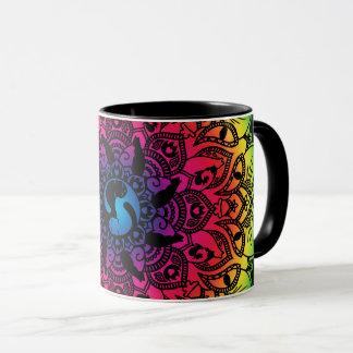 Zen Henna Mandala Hippy Cat Mug