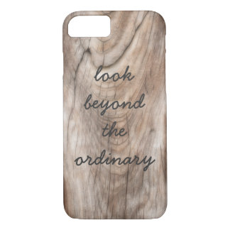 zen inspirational quote on weathered wood design iPhone 7 case