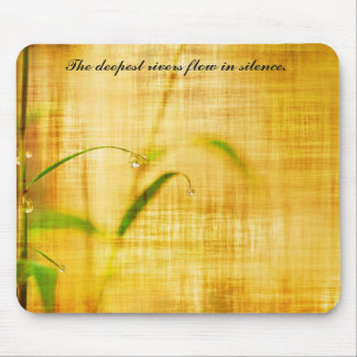 Zen Inspired Bamboo Leaf Photo with Quote Mousepad