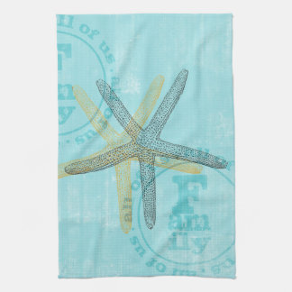 Zen Inspired Beach Theme Starfish Kitchen Towel