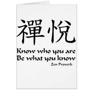 Zen Joy -  Know Who You Are Card