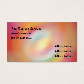 Zen Licensed Massage Therapist Business Card
