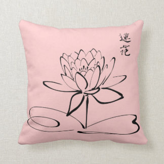 Zen Lotus Flower Throw Pillow