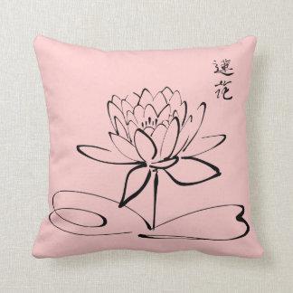 Zen Lotus Flower Throw Pillows