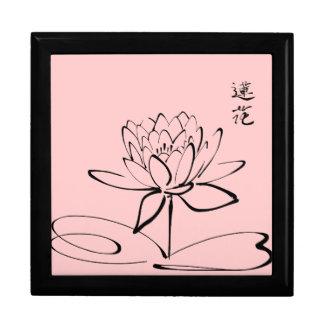 Zen Lotus Flower Trinket Boxes