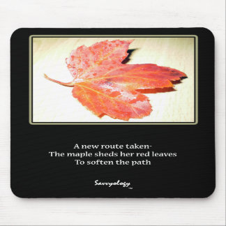 Zen Maple Poem & Art Mousepad