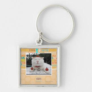 Zen Mastah Silver-Colored Square Keychain