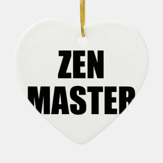 Zen Master Ceramic Heart Ornament