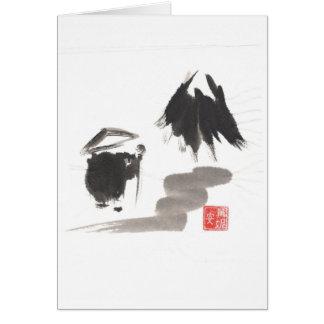 Zen Monk and Mountain of Enlightenment Card