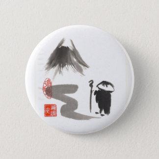 Zen Monk on Journey 2 Inch Round Button