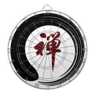 Zen Namaste Circle Meditation Prayer Ohm Aum Om Ou Dartboard