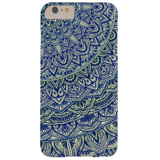 Zen Navy and yellow Mandala Barely There iPhone 6 Plus Case