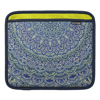 Zen Navy and yellow Mandala iPad Sleeve