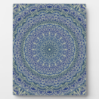 Zen Navy and yellow Mandala Plaque