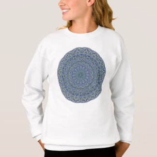 Zen Navy and yellow Mandala Sweatshirt
