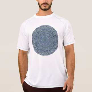 Zen Navy and yellow Mandala T-Shirt