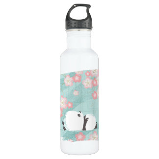 Zen Panda Tall Bottle (Plum Blossoms)