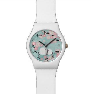 Zen Panda Watch (Plum Blossoms)