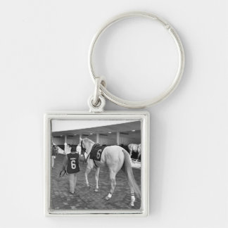 Zen Papa #6 Silver-Colored Square Keychain