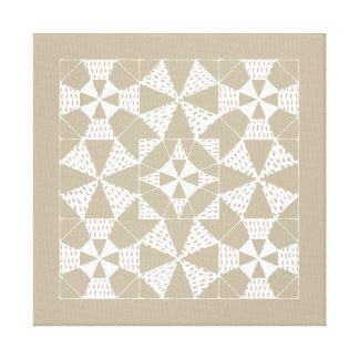 Zen-patterns - quilting beta canvas print