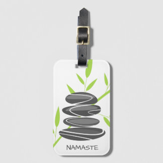 Zen pebble stone Personalized travel lugage tags