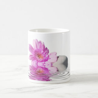 Zen pink flower classic white coffee mug