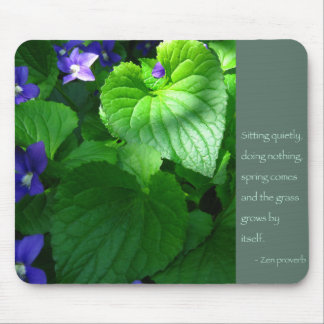 Zen Proverb Quote Poster Mouse Pad