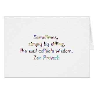 Zen Proverb-Yoga/Meditation Card