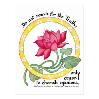 Zen quote and lotus postcard