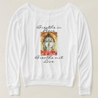 Zen Quote Buddha Watercolor Art Flowy Shirt