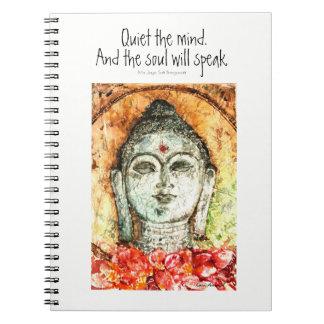 Zen Quote Buddha Watercolor Art Spiral Notebook