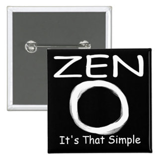 Zen Simplicity 2 Inch Square Button