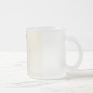 Zen State Concept Illustration with Woman Reaching Frosted Glass Coffee Mug