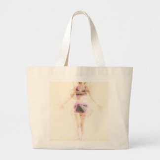 Zen State Concept Illustration with Woman Reaching Large Tote Bag