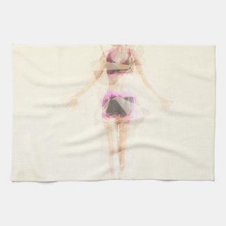 Zen State Concept Illustration with Woman Reaching Towel