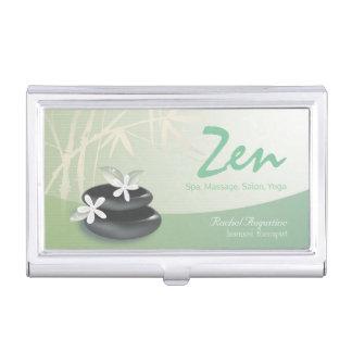 ZEN Stone Bamboo YOGA SPA Massage Beauty Salon Business Card Holder