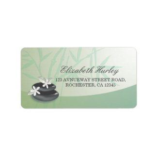 ZEN Stone Bamboo YOGA SPA Massage Therapy Salon Label