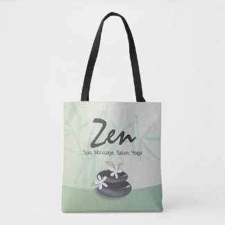 ZEN Stone Bamboo YOGA SPA Massage Therapy Salon Tote Bag