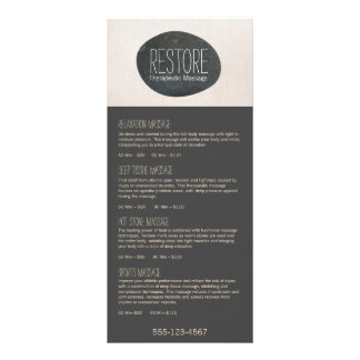 Zen Stone Massage Therapist Service Spa Menu