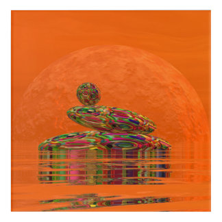 Zen stones - 3D render Acrylic Print
