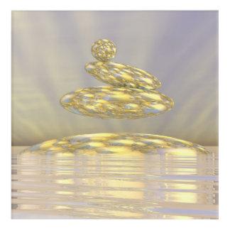 Zen stones - 3D render Acrylic Wall Art