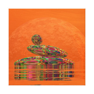 Zen stones - 3D render Canvas Print