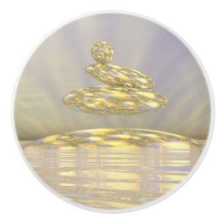 Zen stones - 3D render Ceramic Knob