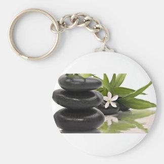 Zen Stones Basic Round Button Keychain